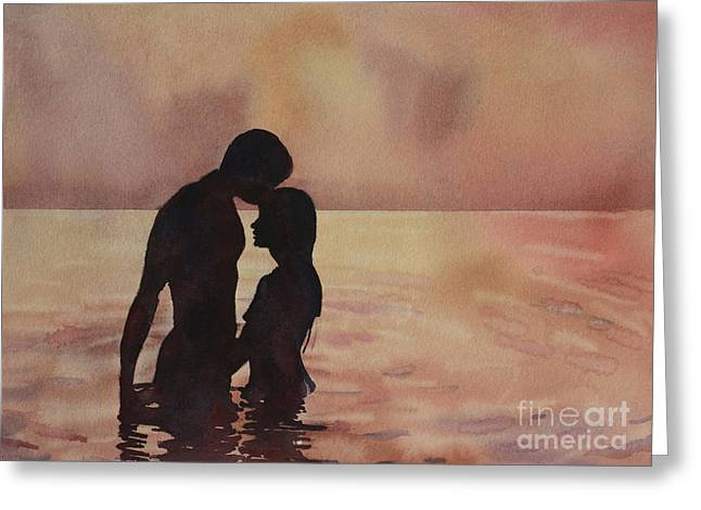 Art Reproduction Greeting Cards - Kiss in the Water Greeting Card by Ryan Fox