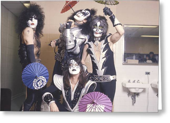 1977 Greeting Cards - KISS - Japan Tour 1977 Greeting Card by Epic Rights