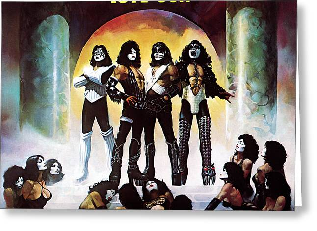 1977 Greeting Cards - KISS - Love Gun Greeting Card by Epic Rights