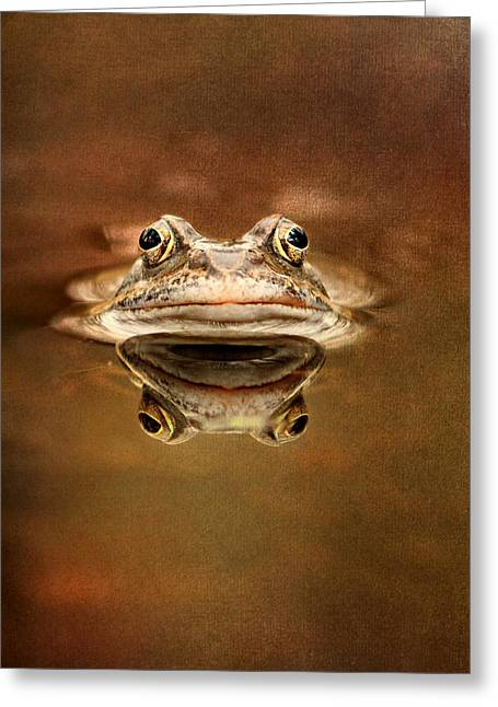 Amphibian Mixed Media Greeting Cards - Kiss Me Greeting Card by Heike Hultsch