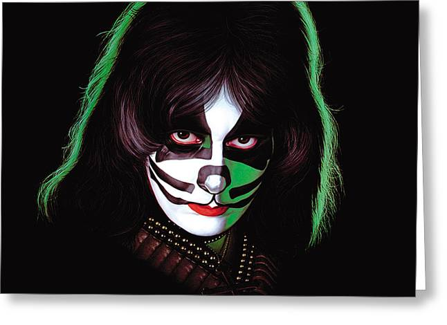 Kiss - Peter Criss Greeting Card by Epic Rights