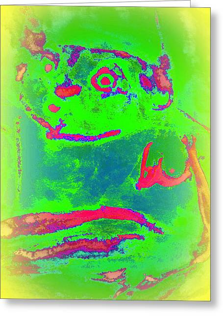 Basement Paintings Greeting Cards - Kiss The Frog Greeting Card by Hilde Widerberg
