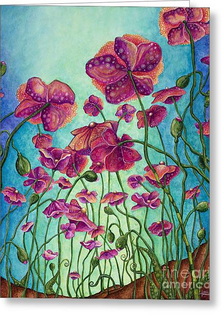 Flowers Against The Sky Greeting Cards - Kissed by the Sun Greeting Card by Tanielle Childers