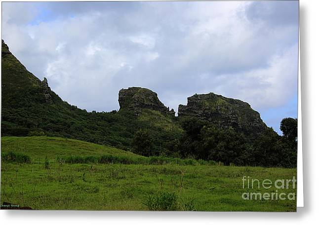 Beautiful Scenery Greeting Cards - Kissing Gorilla Rocks Greeting Card by Cheryl Young