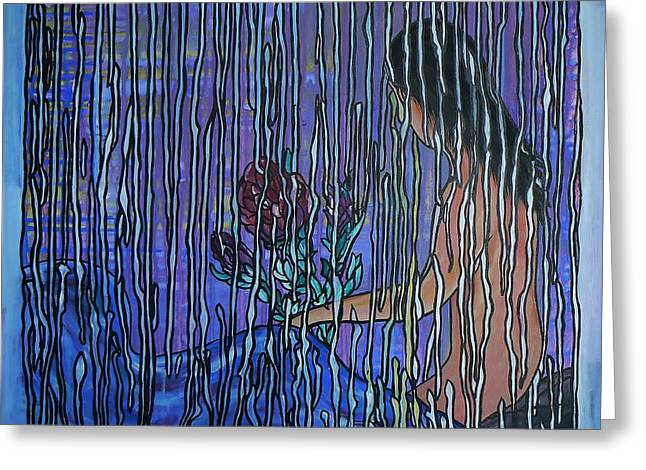 Saint Jean Art Gallery Greeting Cards - Kissing Rain Greeting Card by Barbara St Jean