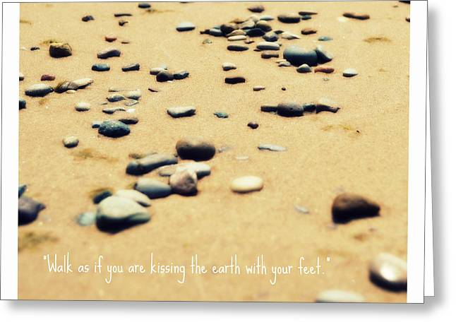 Kissing the Earth Greeting Card by Poetry and Art