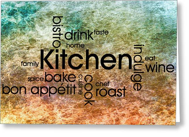 Red Wine Prints Greeting Cards - Kitchen Art 2 Greeting Card by Todd and candice Dailey