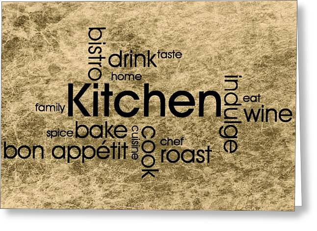Red Wine Prints Greeting Cards - Kitchen Art 3 Greeting Card by Todd and candice Dailey