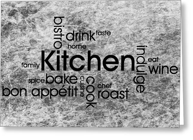 Red Wine Prints Greeting Cards - Kitchen Art 4 Greeting Card by Todd and candice Dailey