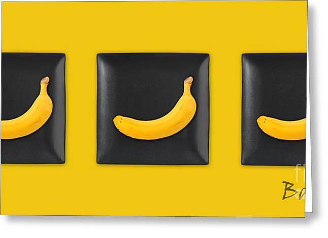 Kitchen Art - Bananas - V02 Greeting Card by Aimelle