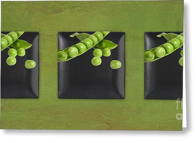 Kitchen Art - Peas - 02t01b Greeting Card by Aimelle
