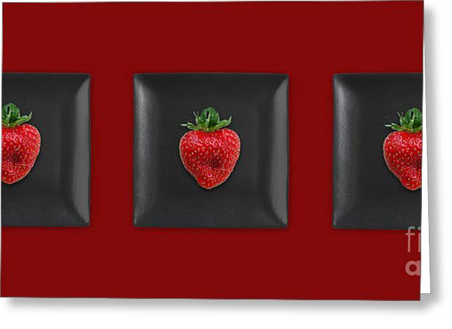 Strawberry Art Greeting Cards - Kitchen Art - Srawberries Greeting Card by Aimelle