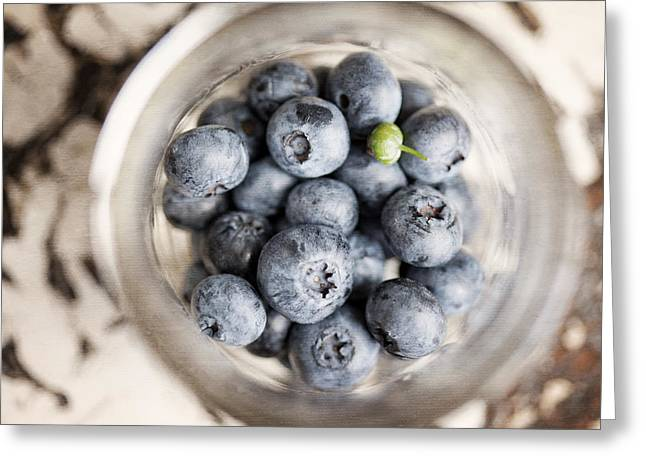 Oddball Greeting Cards - Kitchen Blueberries Greeting Card by Lisa Russo