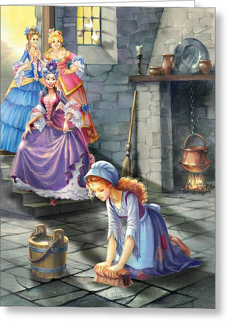 Costume Photographs Greeting Cards - Kitchen Chores Greeting Card by Zorina Baldescu