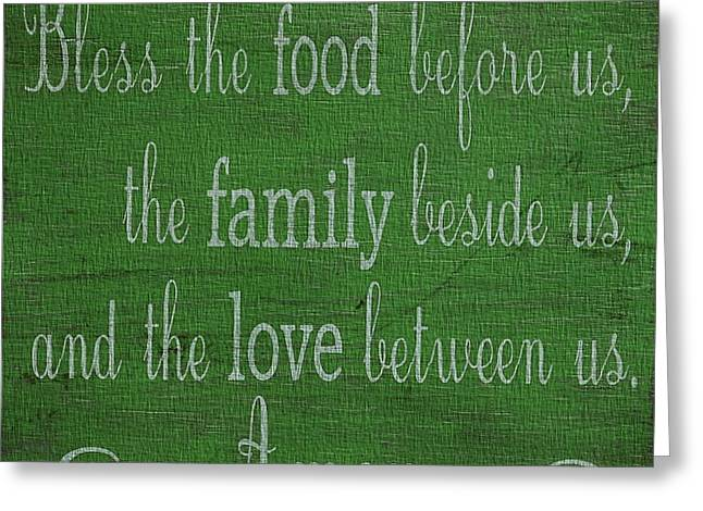 Chip Mixed Media Greeting Cards - Kitchen Decor Green Canvas Greeting Card by Dan Sproul