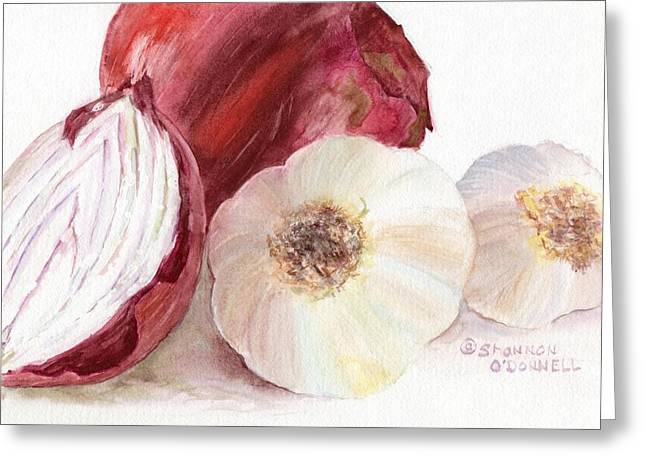Essential Paintings Greeting Cards - Kitchen Essentials Greeting Card by Shannon O