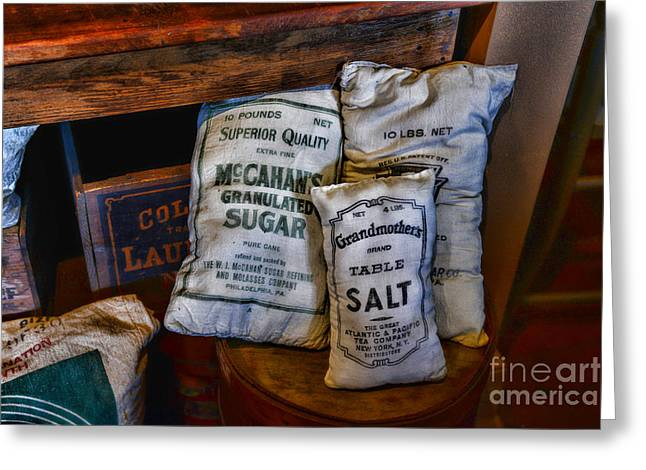 Grocery Store Greeting Cards - Kitchen - Food - Sugar and Salt Greeting Card by Paul Ward
