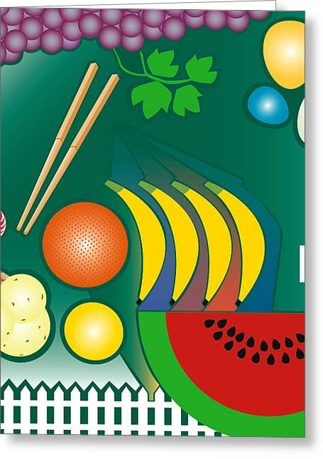 Watermelon Greeting Cards - Kitchen Greeting Card by Francis Koerber
