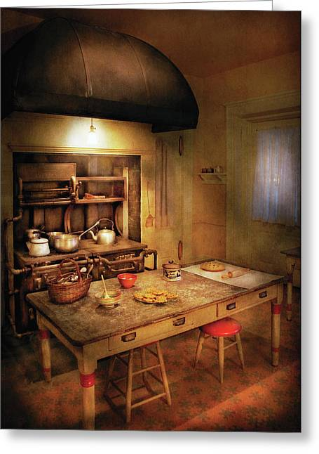 Mother Gift Greeting Cards - Kitchen - Grannys Stove Greeting Card by Mike Savad