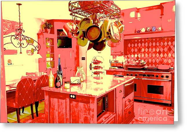 South Beach Framed Prints Greeting Cards - Kitchen Heat Greeting Card by Diane Phelps