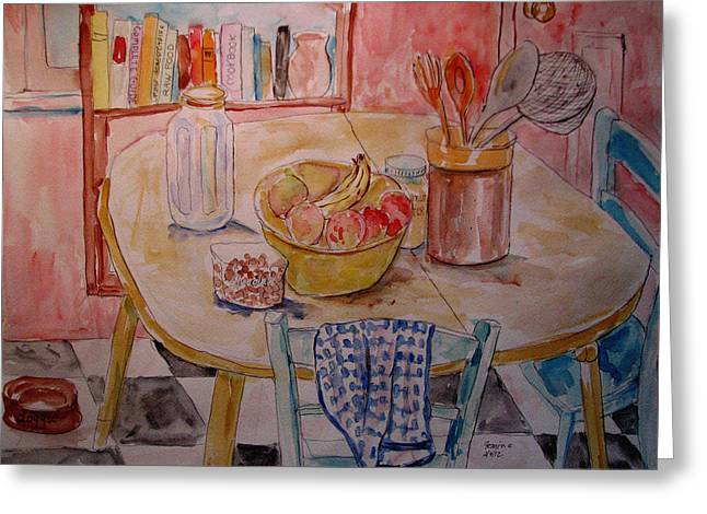 Kitchen in Nashville Greeting Card by Lucille Femine