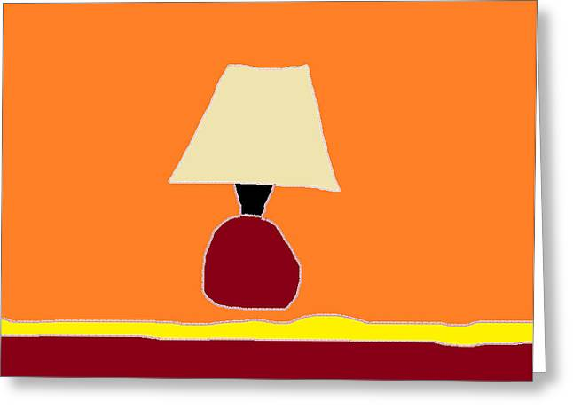 Harmonious Drawings Greeting Cards - Kitchen Lamp 3 Greeting Card by Anita Dale Livaditis