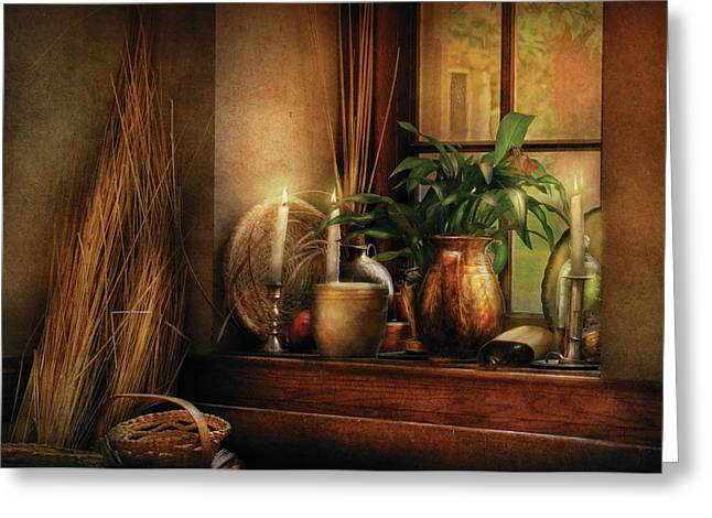 Old Pitcher Greeting Cards - Kitchen - One fine evening Greeting Card by Mike Savad