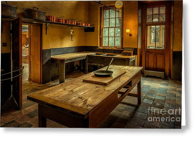 Kitchen Utensils Greeting Cards - Kitchen Quarters  Greeting Card by Adrian Evans