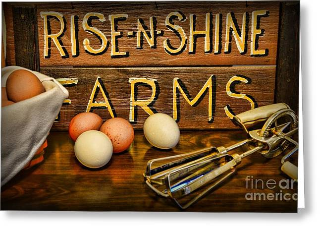 Gifts For A Cook Greeting Cards - Kitchen  Rise and Shine Greeting Card by Paul Ward