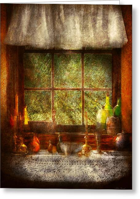 Doily Greeting Cards - Kitchen - Table Setting Greeting Card by Mike Savad