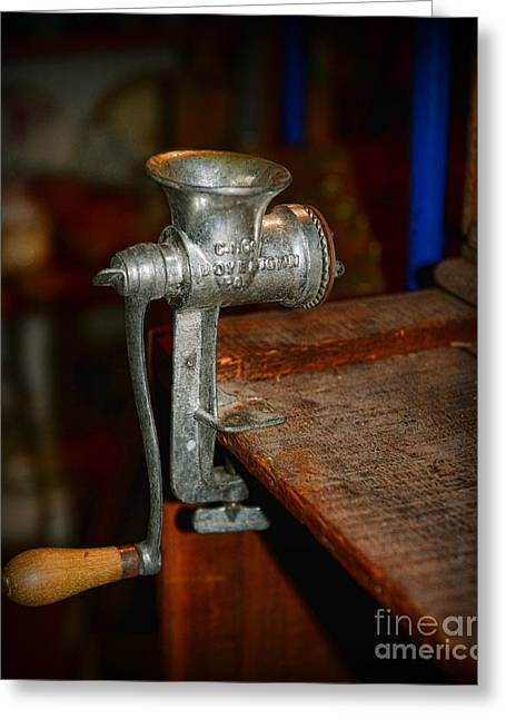 Culinary Greeting Cards - Kitchen - The Meat Grinder Greeting Card by Paul Ward