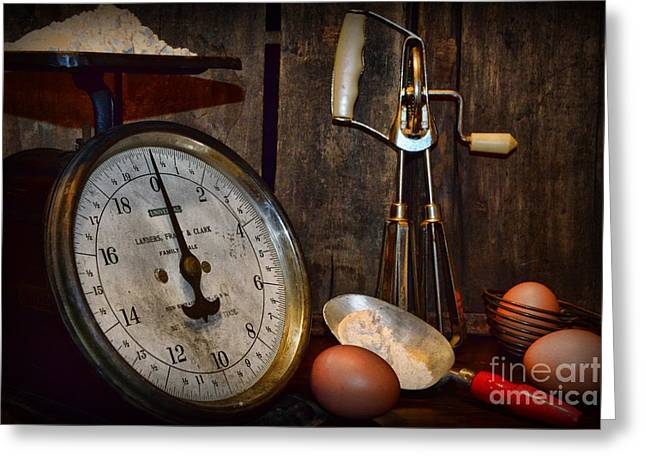 Kitchen - The Vintage Baker Greeting Card by Paul Ward