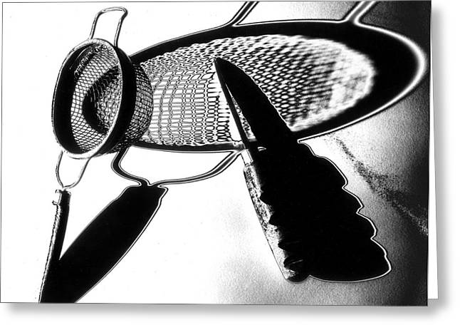 Strainer Greeting Cards - Kitchen Utensils Greeting Card by Garry McMichael