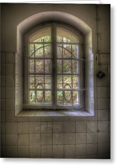 Creepy Digital Art Greeting Cards - Kitchen window Greeting Card by Nathan Wright