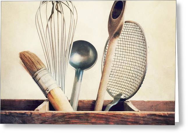 kitchenware Greeting Card by Priska Wettstein