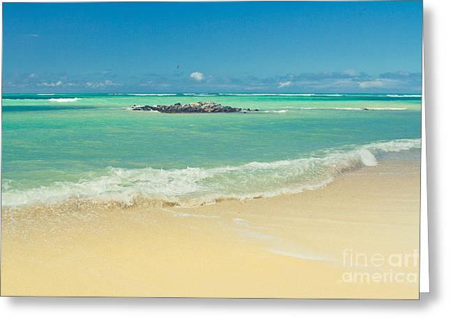 Kite Art Greeting Cards - Kite Beach Maui Hawaii Greeting Card by Sharon Mau