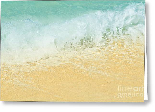 Kite Greeting Cards - Kite Beach Ocean Splash Greeting Card by Sharon Mau