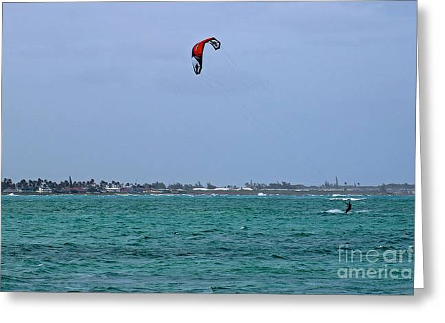 Kite Surfing Greeting Cards - Kite Boarder Greeting Card by Deanna Proffitt