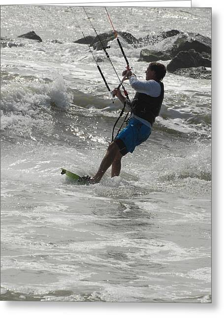 Take Over Greeting Cards - Kite Surfing 60 Greeting Card by Joyce StJames