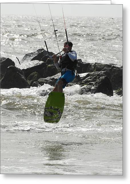 Take Over Greeting Cards - Kite Surfing 63 Greeting Card by Joyce StJames