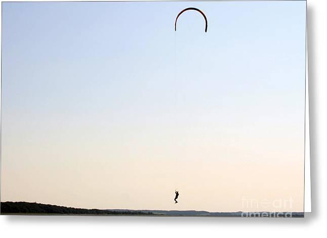 Kite Surfing Greeting Cards - Kite Surfing Denmark Greeting Card by Juan Romagosa