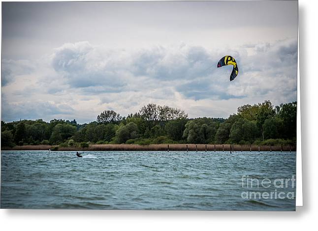 Kite Surfing Greeting Cards - Kite Surfing Greeting Card by Hannes Cmarits