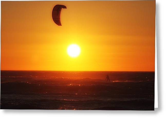 Kite Surfing Greeting Cards - Kite Surfing Greeting Card by LHJB Photography