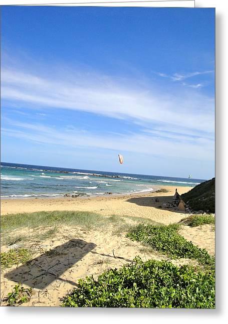 Kite Surfing Greeting Cards - Kite Surfing Greeting Card by Natalia Nowak