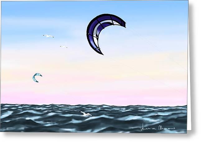 Kite Greeting Card by Veronica Minozzi