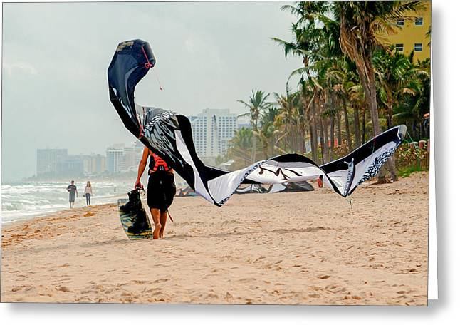 Kite Greeting Cards - Kiteboard Gear Greeting Card by Keith Armstrong