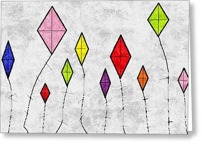 Kite Greeting Cards - Kites Greeting Card by Treesha Duncan