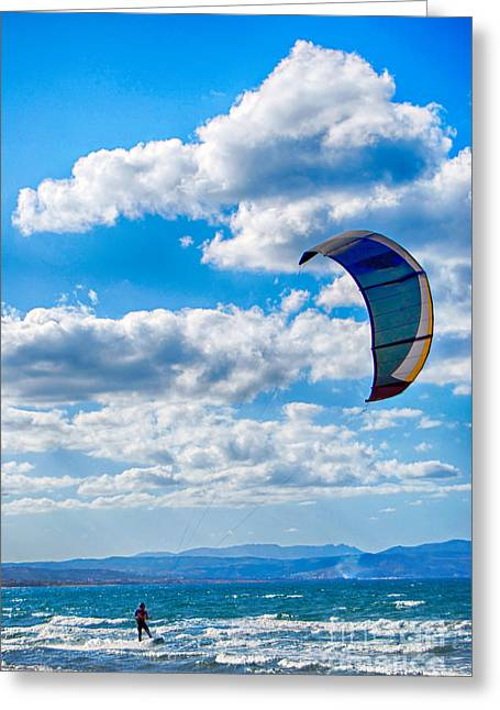 Kitesurfer Greeting Card by Antony McAulay