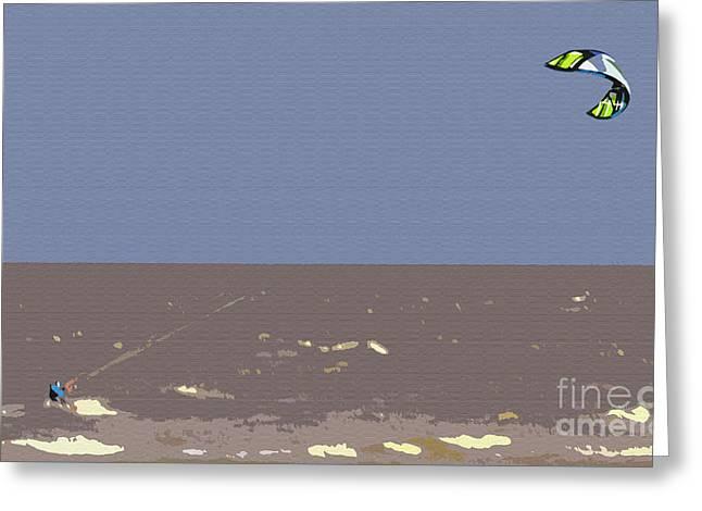 KiteSurfing Greeting Card by Andy Readman