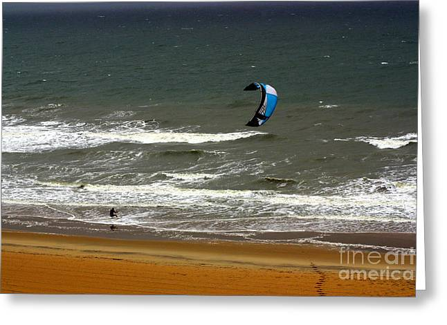 Kitesurfing Virginia Beach Greeting Card by Patti Whitten